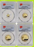 2016 China Pure Gold Panda 4 Coins Set Pcgs Ms 70 First Strike