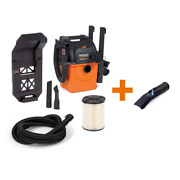 Ridgid 5-gal Shop Vacuum Wet Dry Wall-mount Vac Cleaner Blower With Accessories