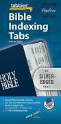 Silver Edged Bible Indexing Tabs Old And New Testament 80 Tabs Silver Edge New
