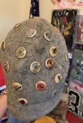 40s Wwii Squadron Kellogg's Pep Pin W/ Wwii Japanese Army Officer Field Cap Hat.