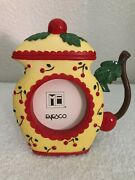 New Vtg Rare Mary Engelbreit Cherries Teapot Picture Photo Frame Andcopy1998