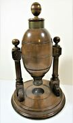 19th C Quality Wood Goose Keno Ball Dispenser Fine Condition 80 Numbered Balls