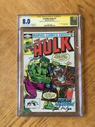 Incredible Hulk 271 Signed By Buscema And Milgrom. 1st Rocket Raccoon 8.0 Vf Cgc