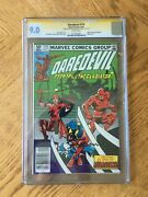 Daredevil 174 Signed By Frank Miller And Klaus Janson. 1st The Hand 9.0 Vf/nm Cgc