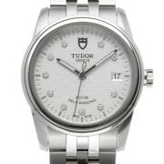 Free Shipping Pre-owned Tudor Glamor Date 55000 Silver / Diamond Dial