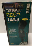 New Intermatic Hb1116r Heavy Duty Outdoor Timer 6 Receptacles 2 On/off Settings