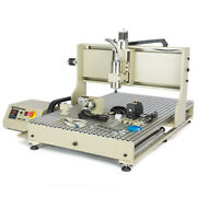 4axis Cnc6090 Router Engraver 2200w Vfd Engraving Drilling Machine Usb Port Used
