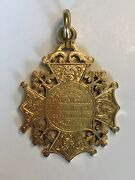 Victorian 18ct Gold Watch Fob Medal 1895 Trinity College London Heavy 20.8g