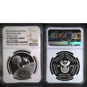 New 2019 South Africa Silver R2 Polymer Putty 2 Rand Ngc Pf70 Moon Landing Lunar