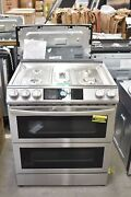 Samsung Nx60t8751ss 30 Stainless Steel Slide-in Gas Range Nob 109055
