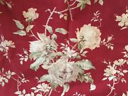 Antique French Roses Dogwood Floral Cotton Fabric 1-red Rose Pink Olive
