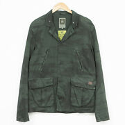 G-star Norris Palm Blazer Jacket Breathable Casual Green Mens Size Xl
