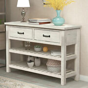 Furniture Antique Entryway Console Table Sideboard W/drawers Shelf Living Room