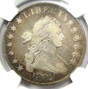 1802 Draped Bust Half Dollar 50c Coin - Certified Ngc Vf Details - Rare Date