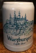 Vintage Wurzburger Light Beer Stein Mug Germany Has A Crack Free Shipping