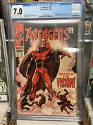 Avengers 1963 57 Cgc 7.0 1st Appearance Silver Age Vision 1238535001