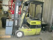Clark Tm12, 2425 Lbs Forklift 36v Electric 9070 Hours With Charger. For Parts