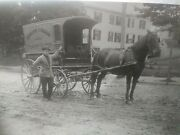 Early 1900s Rppc From Maine Estate - Dirigo Cream And Butter Dairy Wagon