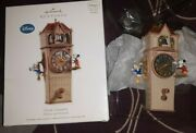 2011 Clock Cleaners Mickey And Friends Hallmark Magic Light Sound Motion New