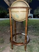 Vintage Crams Imperial World Globe On 30 4 Leg Powell Stand