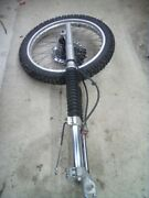 1985 Honda Xl 350r Front Forks Wheel Tire Caliper Disc Complete Front End