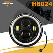 Auxbeam 7 Inch Round Led Headlight Hilo Projector Motorcycle For Harley Dyna