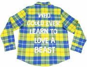 Beauty And The Beast Anniversary Flannel Disney Cakeworthy Shirt