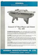 General 12 Inch Buzz Planer And Jointer 280 Brochure 1951 Gm1