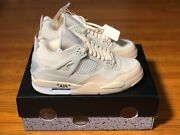 Nike Air Jordan 4 Retro Off-white And039 Sail And039 - Sizes 11.5w And 14w - Cv9388-100