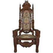 Design Toscano The Lord Raffles Lion Throne Chair