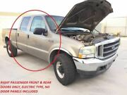 99-07 Ford F250 Super Duty Rh Right Front And Rear Crew Cab Power Doors Aq Paint