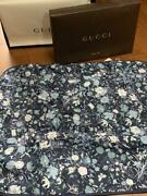 Nwt Navy Blue Baby Wool Blanket Flower No Box Blanket Only Gift