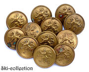 12 Buttons Army Belge. 1914-1918. 1anddeg Gm / Ww1anddeg . Manufacturing J. F.0 31/32in