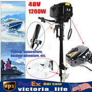 48v 1200w Electric Outboard Motor Inflatable Boat Fishing Boat Engine 3000 Rpm