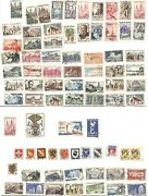 France French Colonies Stamp Collection From 1930's Onwards - Lot Of 79 Stamps