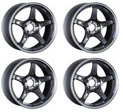 Ssr Gt X03 18x10.5 5x114.3 +22 +12 Machined Graphite Gm From Japan 4 Rims