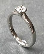 Diamond Solitaire Engagement Ring In A Platinum Setting 0.50 Ct