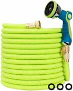 Worth Garden Water Hose 25/50/75/150 100ft Flexible Nozzle Expandable 3/4 In