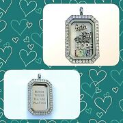 Origami Owl Heritage Locket, Charms And Plate