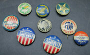 Lot Of 9 President Roosevelt Political Campaign Pinbacks Pins Buttons R3l