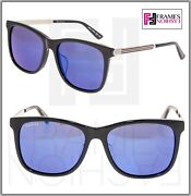 Web 0078 Gold Metal Etched Aviator Black Blue Mirrored Sunglasses Gg0078sk
