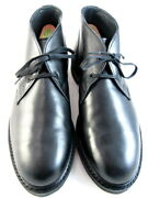 Allen Edmonds Cyrus Menand039s Leather Chukka Boots 8.5 D Black Made In Usa 604
