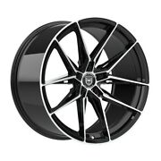 4 Hp1 19 Inch Staggered Black Rims Fits Lincoln Ls V6 2000-2005
