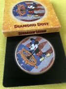 Niue 2017 2 Steamboat Willie Us Flag Diamond Dust 1 Oz Silver Coin Mickey Mouse