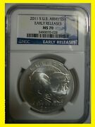 2011 S Us Army Commemorative Silver Dollar Early Releases Ngc Ms70 Blue Label