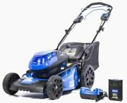 Electric Lawn Mower Cordless Self Prop Kobalt Brushless Battery And Charger Incl