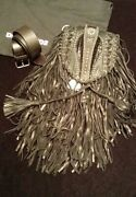 Dsquared2 D2 Studded Fringed Leather Crossbody / Waist Bag Nwt