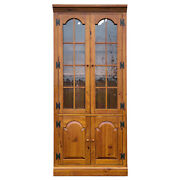 1980s Ethan Allen Country Craftsman Pine Bookcase / Etagare / Wall Unit 19-9326