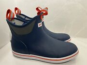 Menand039s 22736 Xtratuf 6 Full Rubber Ankle Deck Boot Navy Blue Fishing Boots Sz 13
