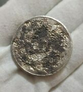 Mexico 1870 Peso Zs Zacatecas Mint Very Heavily Chopmarked Silver Mexican Coin